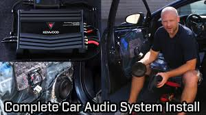 Full Car Audio System Installation - Speakers, Subwoofer And ...