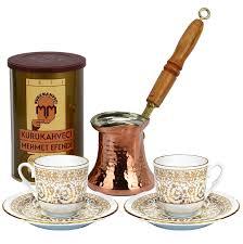 Turkish Coffee Set For Two With Mehmet Efendi
