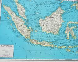 1945 Map East Indies