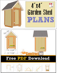 12x12 Shed Plans Pdf by Small Shed Plans Pdf Download 4x4 Gable Shed Shopping Lists