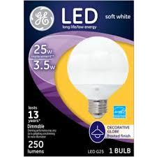 buy the general electric 39732 led globe bulb 3 5 watt 25 watt