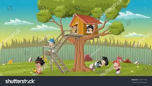 Cute Happy Cartoon Kids Playing House Stock Vector 184771718 ... Best 25 Treehouse Kids Ideas On Pinterest Kids Treehouse Designs And Youtube Play Houses Forts For Hip Cubby House Outdoor Backyard Wooden Houses 371 Best Extreme Playhouses Images Playhouse Registration Simple Amazoncom Kidkraft Toys Games Outside Play In This Fun Fort With Bridge Rockwall Decoration Ideas Adorable Brown Castle Style This Kidfriendly Backyard Renovation Took Only 3 Weeks To Fabulous Tree Design Which Is Completed With Unique Yard Games