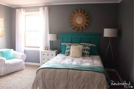 Teal Bedroom Ideas Sliding Barn Door Closet White And Beige Curtains Sheer Medium Tone Hardwood Floors Walls Transitional Seating Black Dresser Coffered