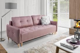skandinavisches 3 sitzer sofa zum schlafen mit bettkasten
