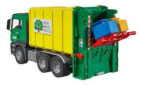 100 Toy Garbage Trucks For Sale Bruder MAN TGS Rear Loading Truck Green Yellow