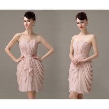 Blush Pink Bridesmaid Dress Short Prom Dresses For Cheap 13060