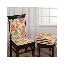 Buy Peach Floral Dinning Chair Pads Online Cotton Fabric