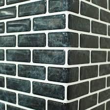 self adhesive wall tiles peel and stick backsplash kitchen black