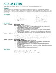 Administrative Assistant Administration And Office Support Resume Sample