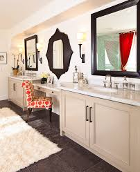 Master Bathroom Vanity With Makeup Area by Moroccan Style Mirror With Master Bathroom Bathroom Mediterranean