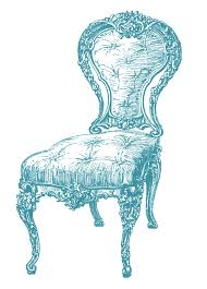 Vintage Clip Art Frenchy Chair 4 Options