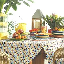 Outdoor Tablecloth With Umbrella Hole Uk by Outdoor Table Cloth Noticeable Round Tablecloth Chart Endearing