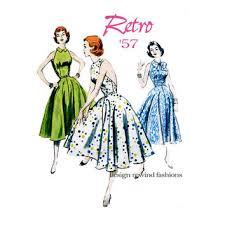 50s HALTER DRESS PATTERN Fit Flare Marilyn Monroe Dress Bust 36 38 40 42 UNCuT