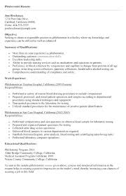 Phlebotomist Resume Examples And Cover Letter Example