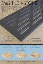 register covers vent covers waterjet cut from any tile