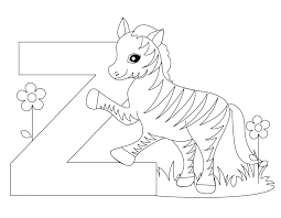 Letter Z Coloring Pages Page Alphabet Worksheets And For Kid