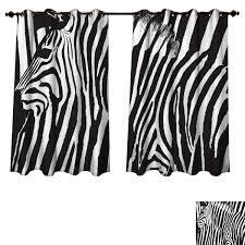 Amazoncom RuppertTextile Zebra Print Bedroom Thermal Blackout