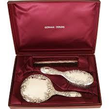 Vanity Mirror Dresser Set by Gorham Sterling Silver Vanity Dresser Set Case Mirror Brush Comb
