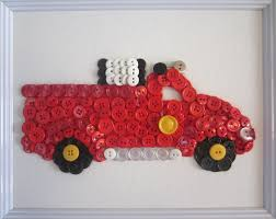 100 Fire Truck Wall Art Button Busted Button