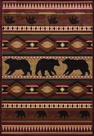Native Bear Toffee Area Rug