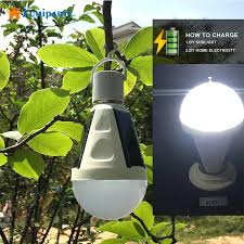 lumiparty rechargeable 16 led solar light bulb hook l outdoor