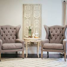 white and gray french living room accent chairs design ideas
