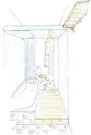 wie lerne ich zeichnen architekt modernes badezimmer