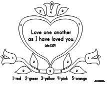 Kindergarten Bible Verse Count By Numbers Love One Another As I Have Loved You