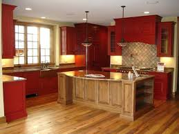 Rustic Red Kitchen Cabinets Ideas