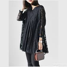 2017 black long sleeve lace dresses casual style oversize lace tops blouses1 1 jpg