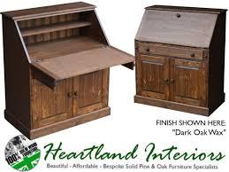 oak writing bureau uk solid pine 3ft wide laptop writing bureau desk made to measure
