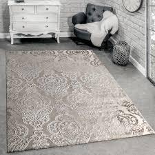 teppich 3 d effekt orientalische ornamente creme