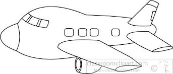 airplane clipart airplane black white outline toy plane clipart black and white