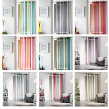 Vertical Striped Window Curtains by Striped Sheer Curtain Panel Riviera Grommet Gray