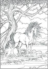 Printable Realistic Unicorn Coloring Pages Sheets And Free For Kids