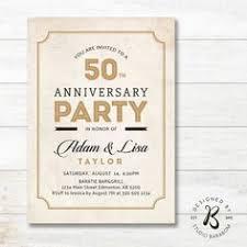 Wedding Anniversary Invitation 50th StudioBaraBom BaraBom