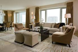 Formal Living Room Furniture Dallas by Elegant Apartment Interior Design With Lush Furniture Also Comely