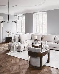 handgewebter viskoseteppich neutrale wohnzimmer