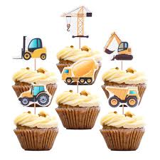 100 Toppers For Trucks Amazoncom Construction Theme Cupcake Topoox 48 Pack Dump