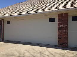 White garage door installation done by Willow Creek Overhead Door