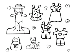 Summer Clothes Coloring Pages For Kids Images Pictures