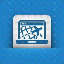 Website Of Travel Agency On Laptop Icon Royalty Free Vector Clip Art