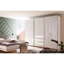 nolte möbel schwebetürenschrank mit drehtüren concept me 320 weißglas mit beleuchtung