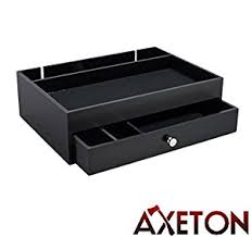 amazon com axeton men s dresser top valet nightstand caddy