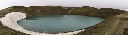 Volcanic Explosion Crater Viti On Krafla Volcano Iceland Stock Photo