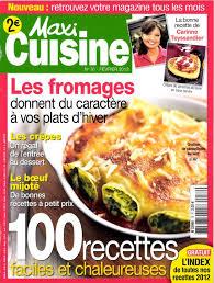 recettes maxi cuisine mag presse détails d un magazine