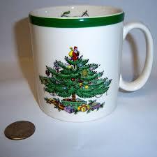 Spode Christmas Tree Mug And Coaster Set by Charming Design Spode Christmas Tree Mugs Peppermint Handled Set