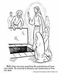 Coloring Jesus Raises Lazarus