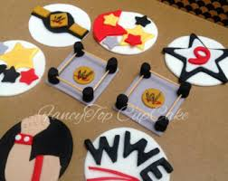 Wwe Raw Cake Decorations by Wrestling Cupcake Etsy