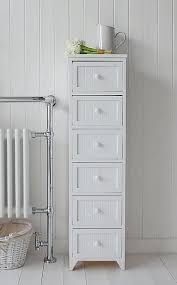 Adelaide Tall Corner Bathroom Cabinet by Tall Bathroom Cabinet White Wooden Floor Standing Cupboard